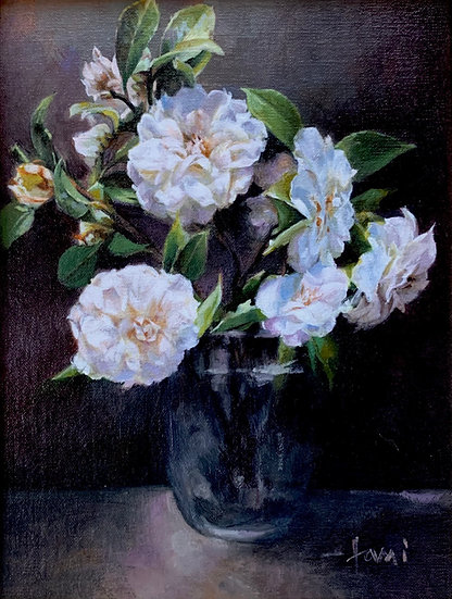 Camellias by Lani Browning