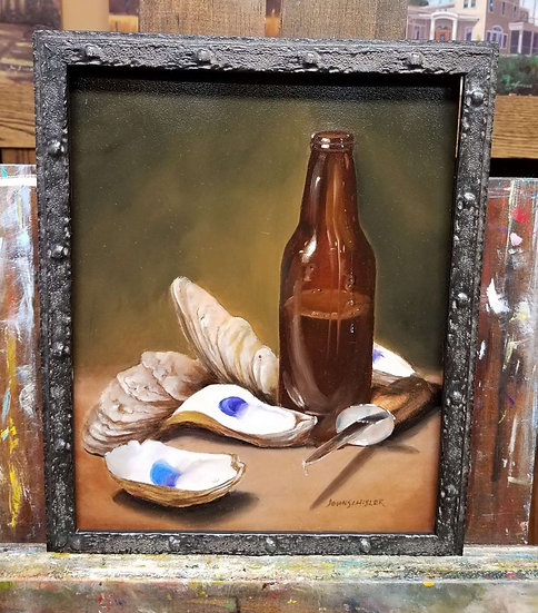 Oysters and Beer by John Schisler