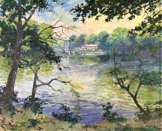 Along the Riverbend: Morning by John Eiseman