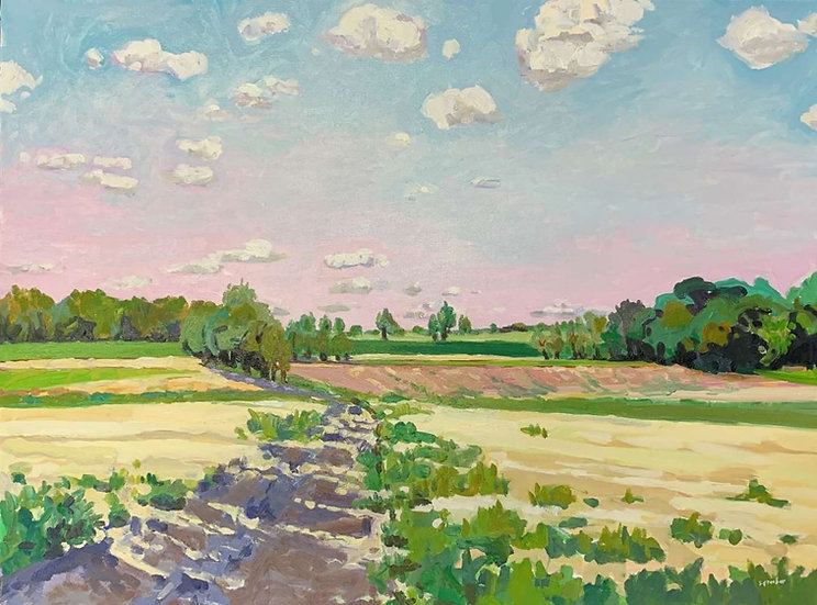 Hay Fields by Susan Graeber