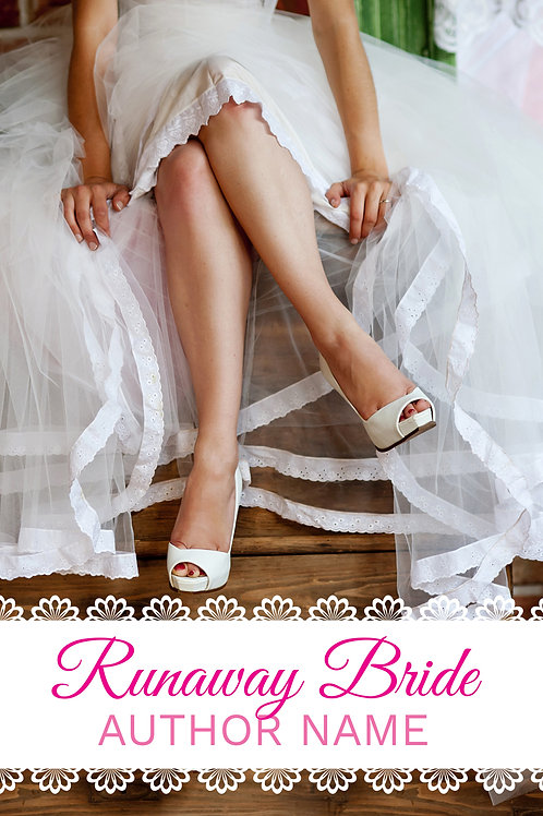 premade contemporary book cover wedding bride