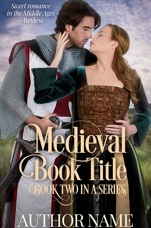 Pre-made Medieval romance ebook cover