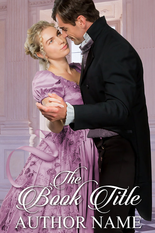 premade historical regency romance book cover design