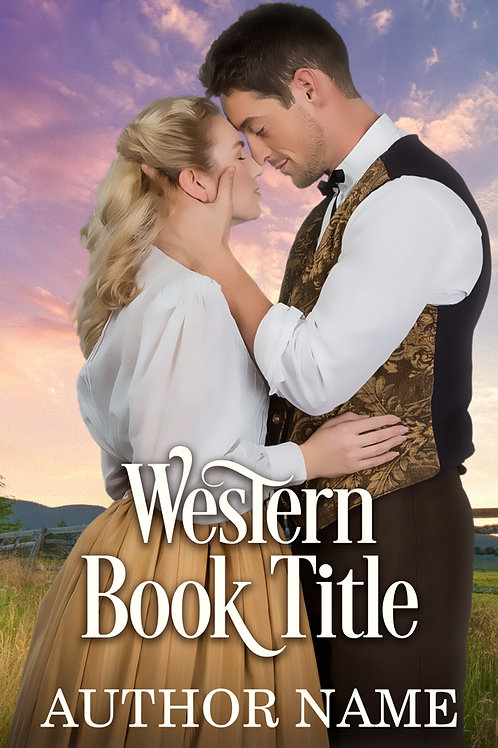 Pre-made historical Western romance ebook cover