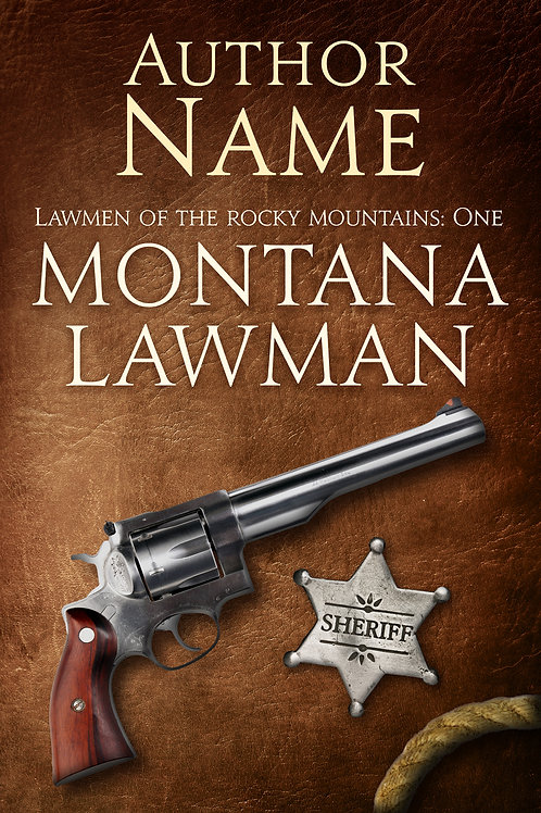 historical western premade book cover