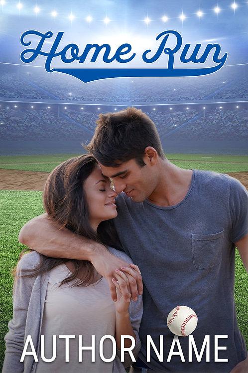 premade baseball romance book cover