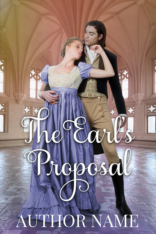 regency romance premade book cover