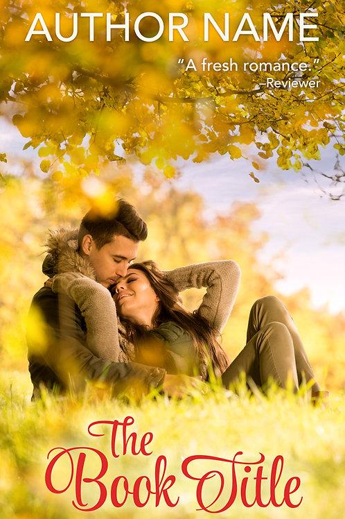 autumn romance book cover design