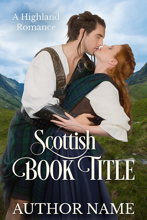pre-made Scottish romance book cover design