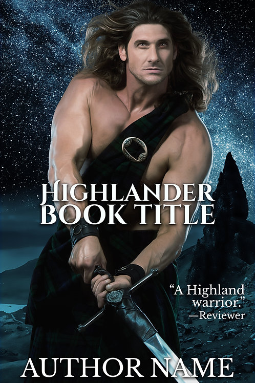 Pre-made historical Scottish book cover design