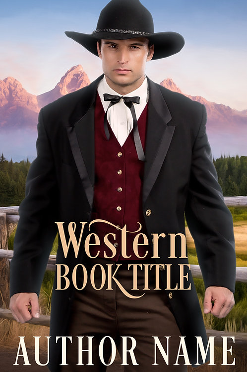 Pre-made historical Westernebook cover.