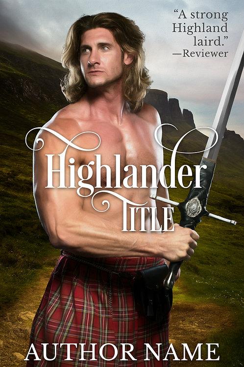 Pre-made historical Scottish book cover design