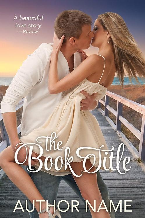 pre-made beach romance book cover