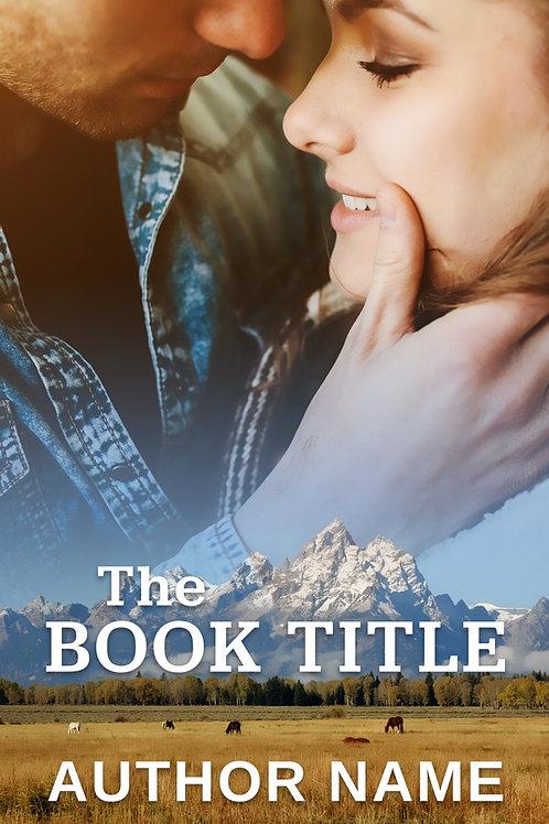 pre-made contemporary western romance book cover design