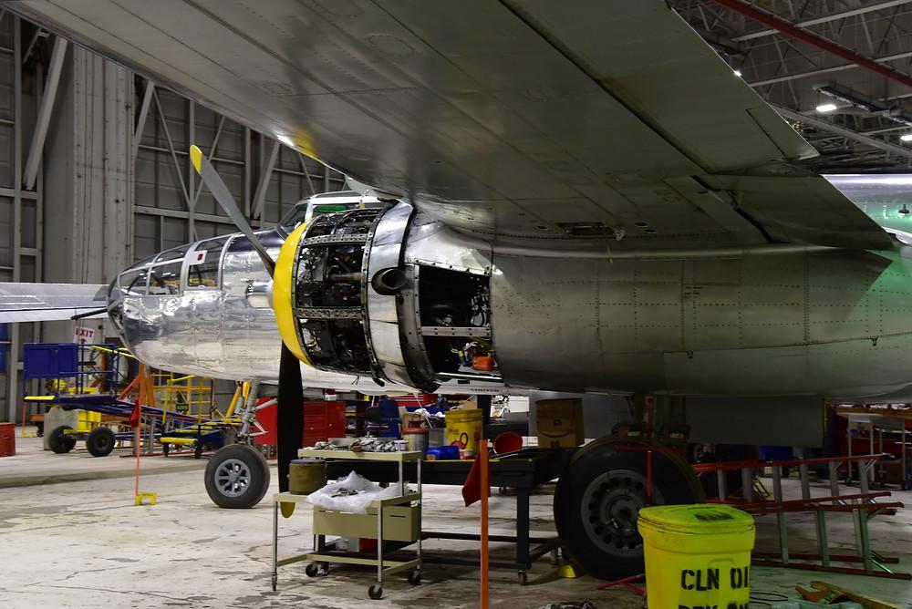 B17 under maintenance at Willow Run