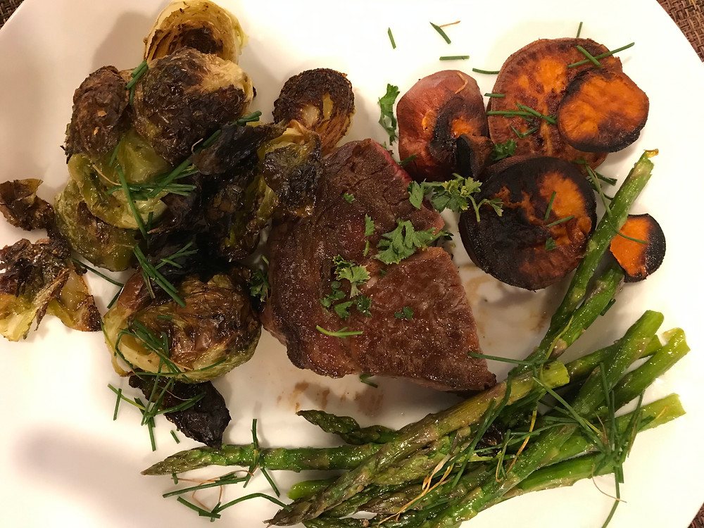 Use magic to produce roasted Brussels sprouts, sweet potato fries, and air-fryer cooked asparagus. Sprinkle garden herbs over top for a frou-frou appearance.