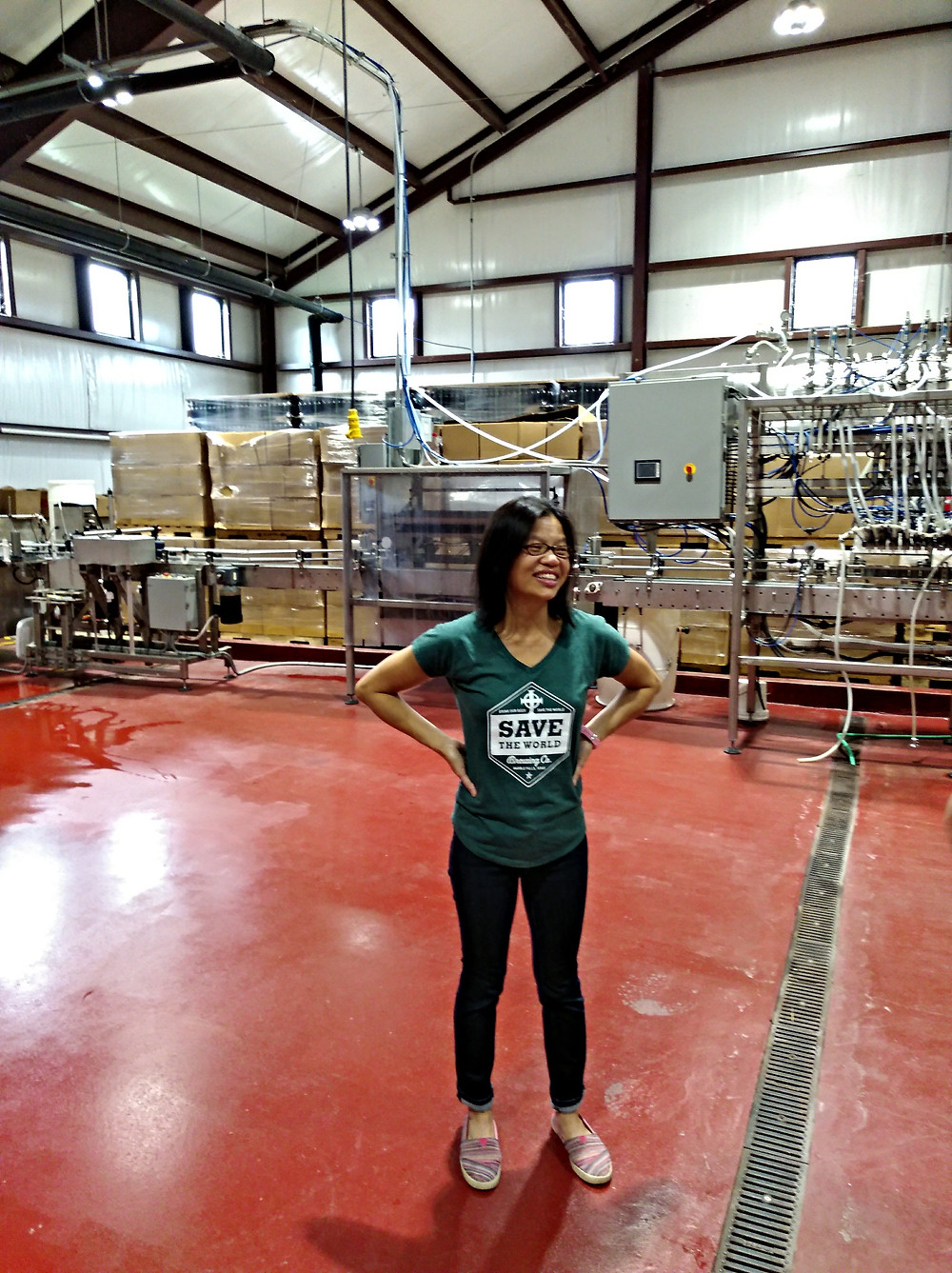 Quynh Rathkamp at the Save The World Brewing Company Brewery