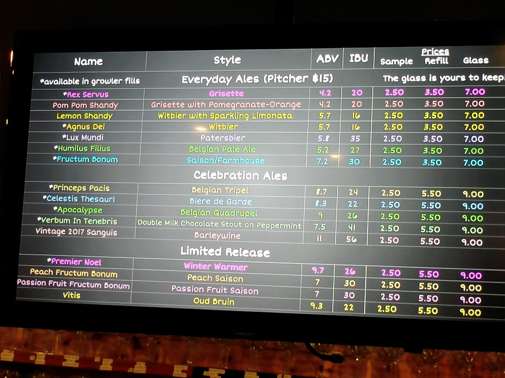 Save The World Brewing Company Beer List