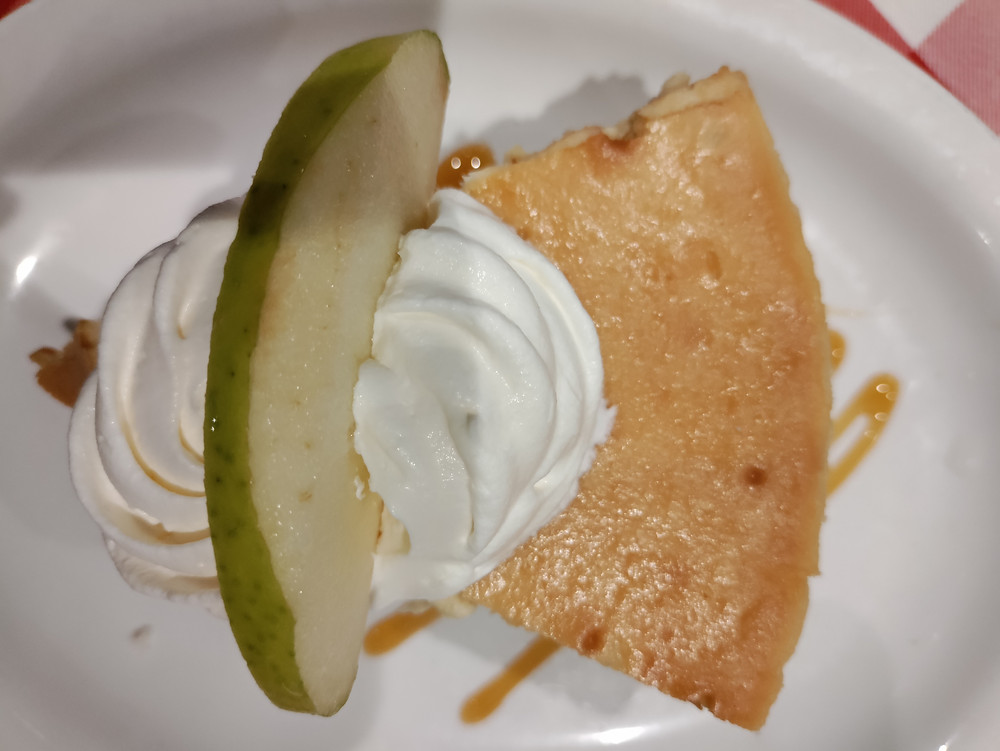 Caramel Apple Cheesecake -- maximal element in the set of cheesecake's at Grimaldi's
