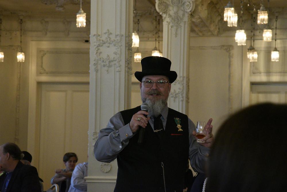 Jason Brumfield discussing the Macallan