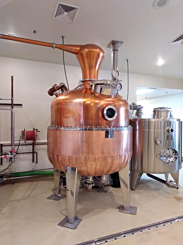 Pot still at Door County Distillery