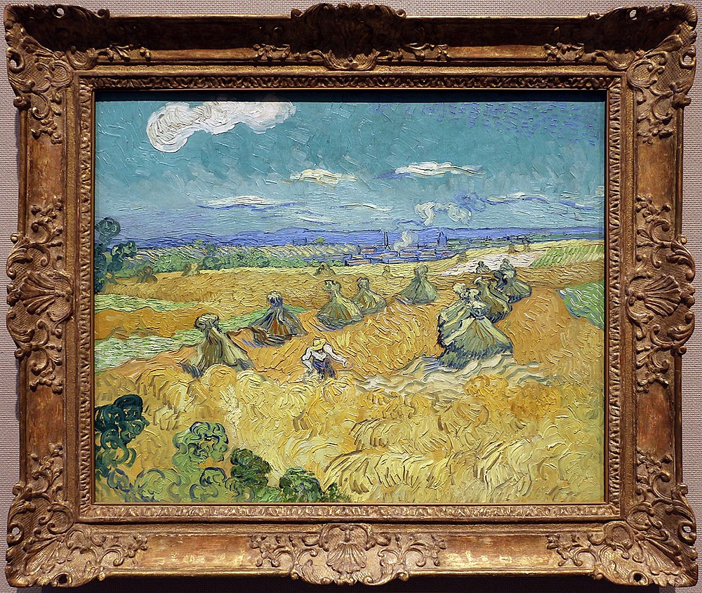Vincent Van Gogh, Wheat Fields with Reaper, Auvers. Creative Commons.