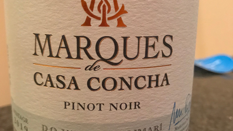 WINE REVIEW: Marques de Casa Concha 2019 Pinot Noir, Quebrada Seca Vineyard, D.O. Valle Del Limari,