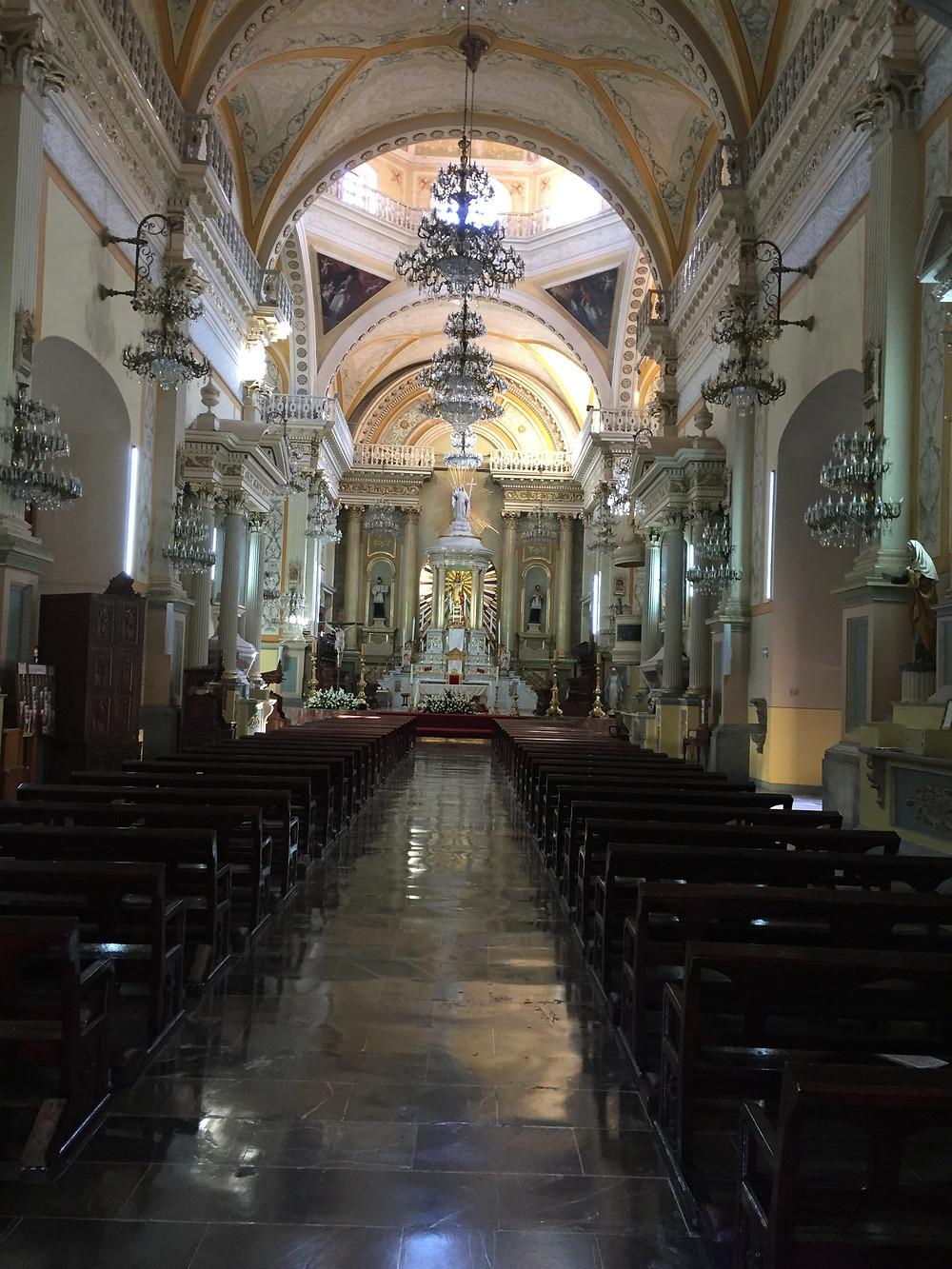 Nave of Basílica Colegiata de Nuestra Señora de Guanajuato