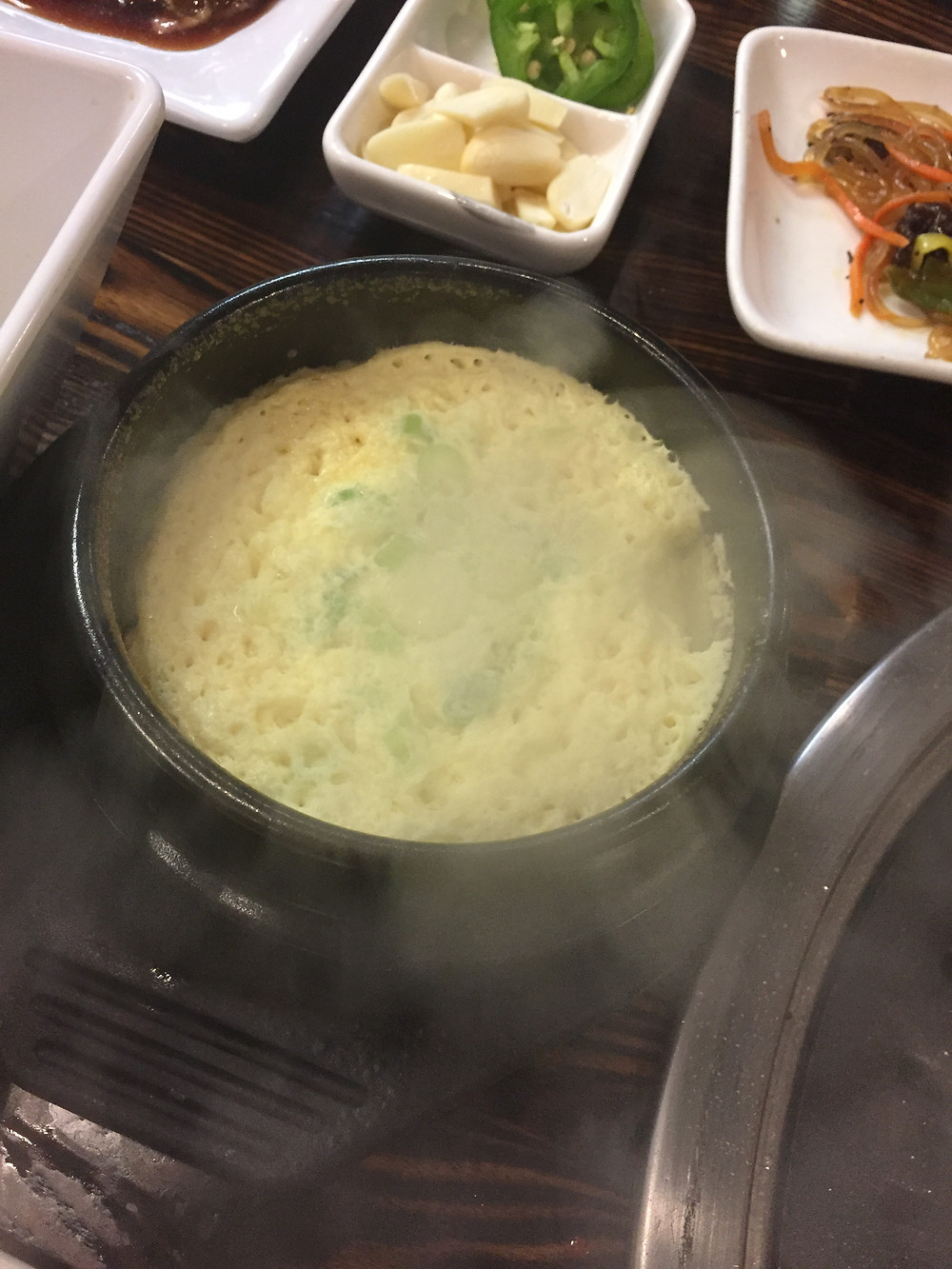 Steamed egg is the Korean cousin of scrambled egg