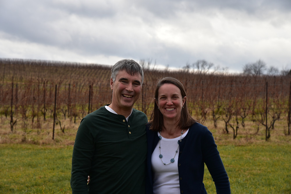 Ed Boyce and Sarah O'Herron, owners of Black Ankle Vineyards