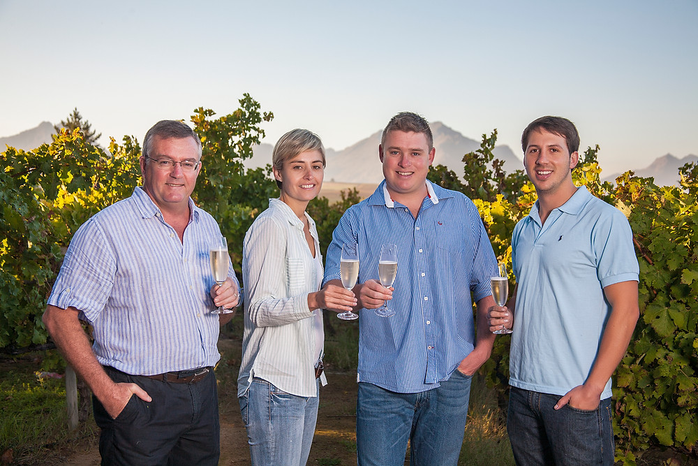 The Winemakers. Johan Malan on the left.