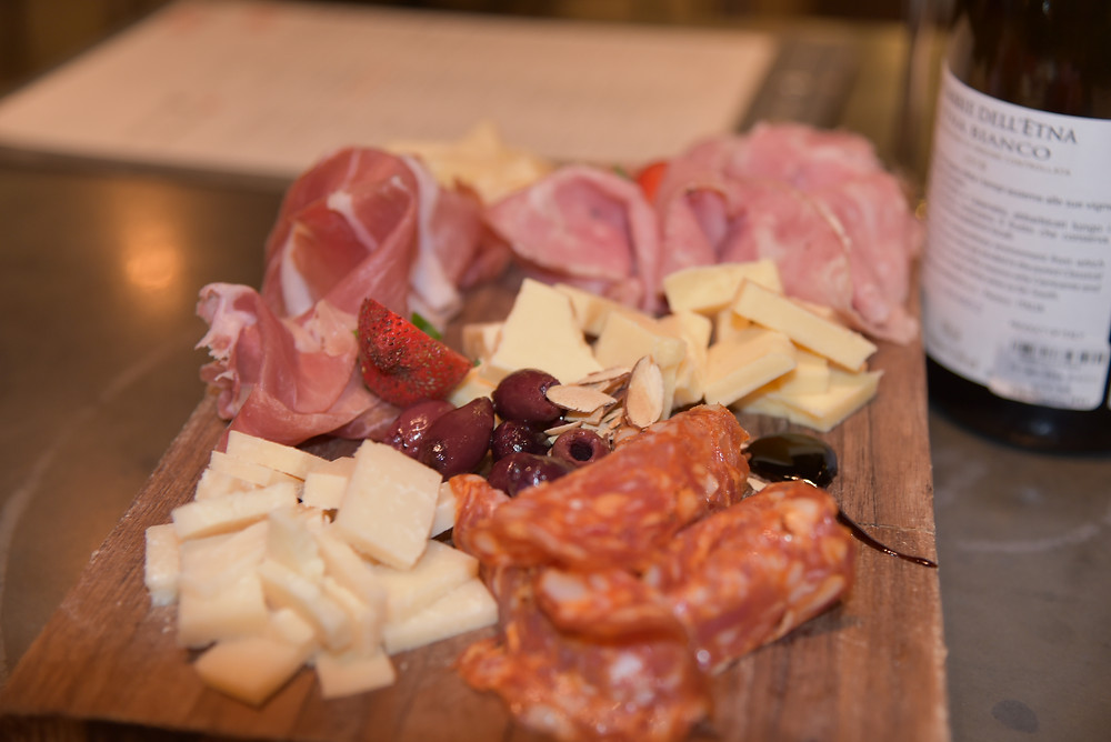 Salumi and cheese platter