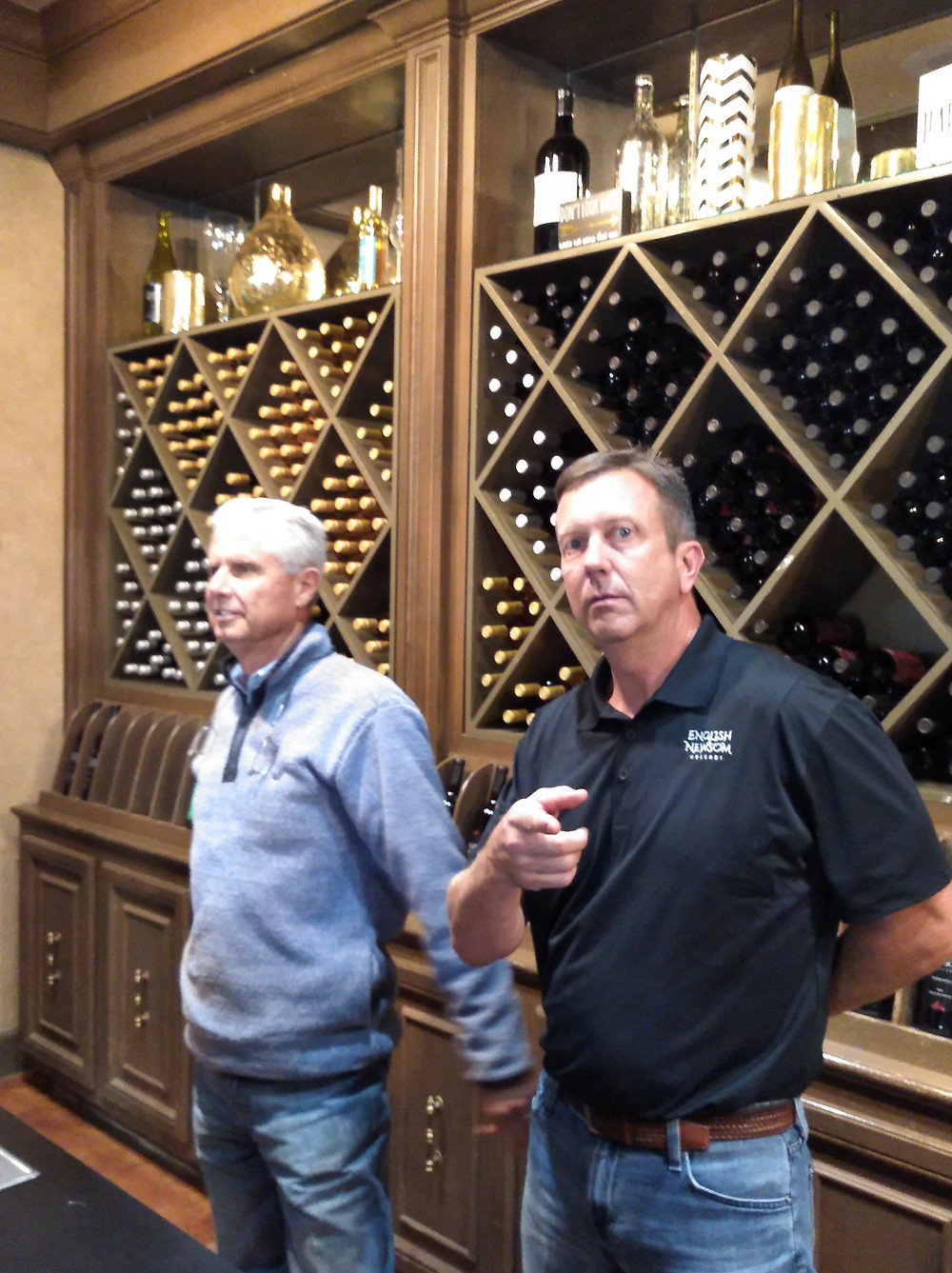 Tommy English and Steve Newsom, co-owners of English Newsom Cellars