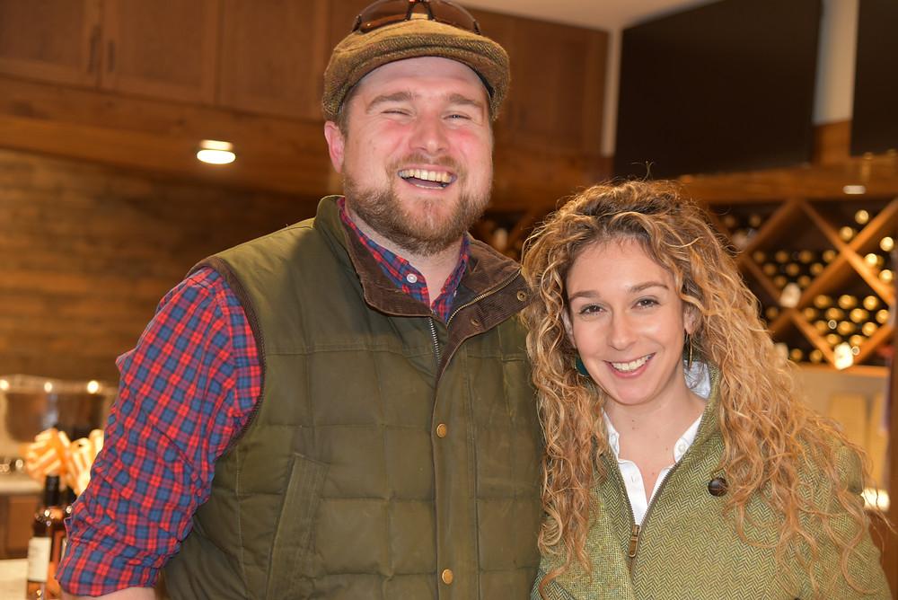 Winemaker Jacques van der Vyver and wife Lauren Mahaney