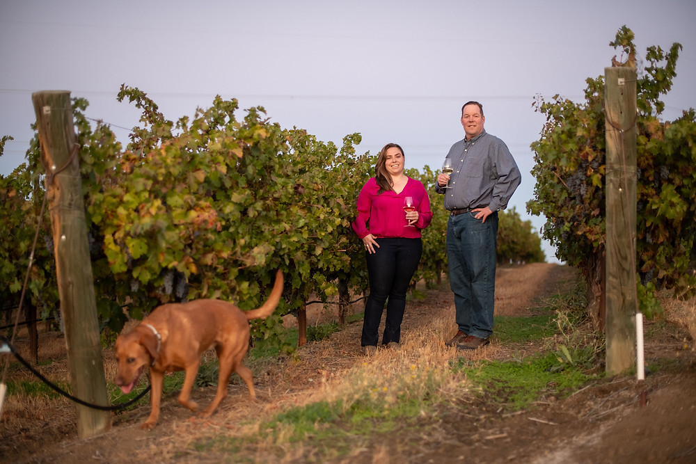 Angelina Mondavi, Randy Heron, and anonymous dog