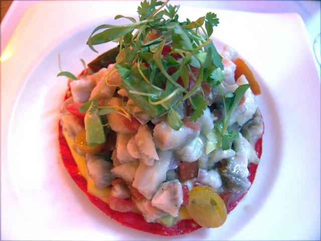 Tuna tartar at Ostra