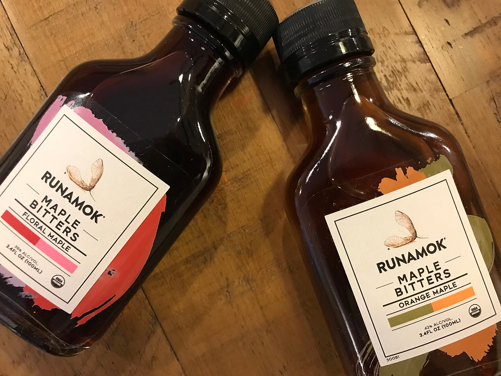 Our test products. Runamok Orange Maple at a virile 42% alcohol