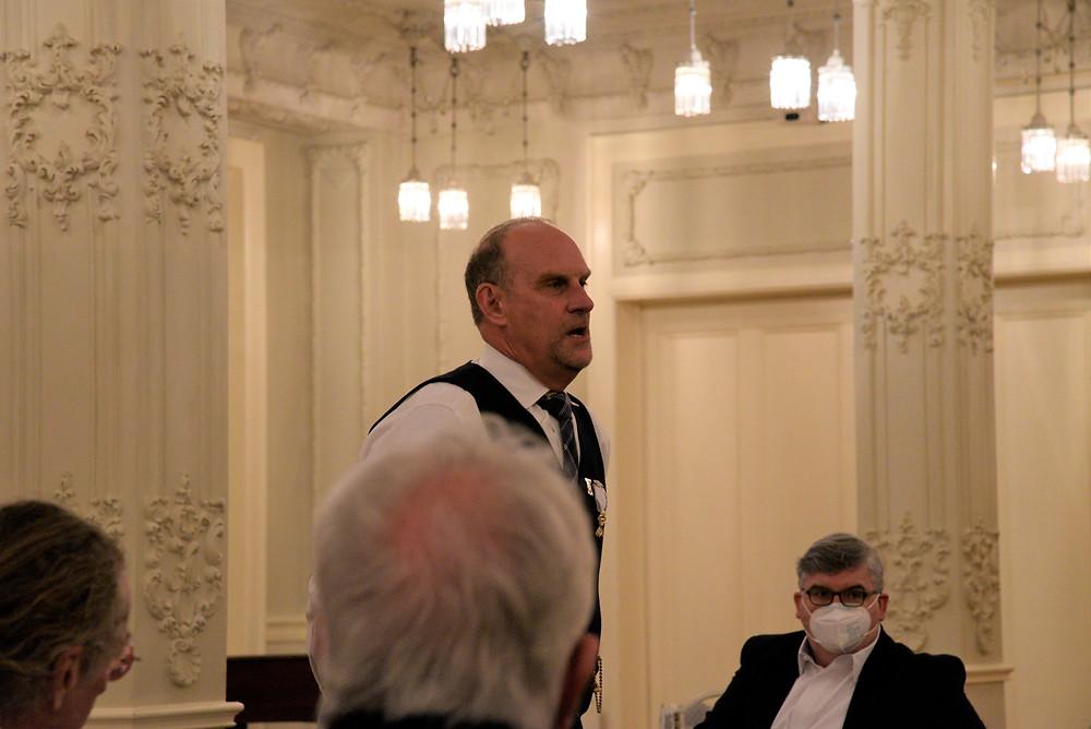 Event host, Gary Pennington, Worthy Master Knights of St Andrew / Dallas Scottish Rite