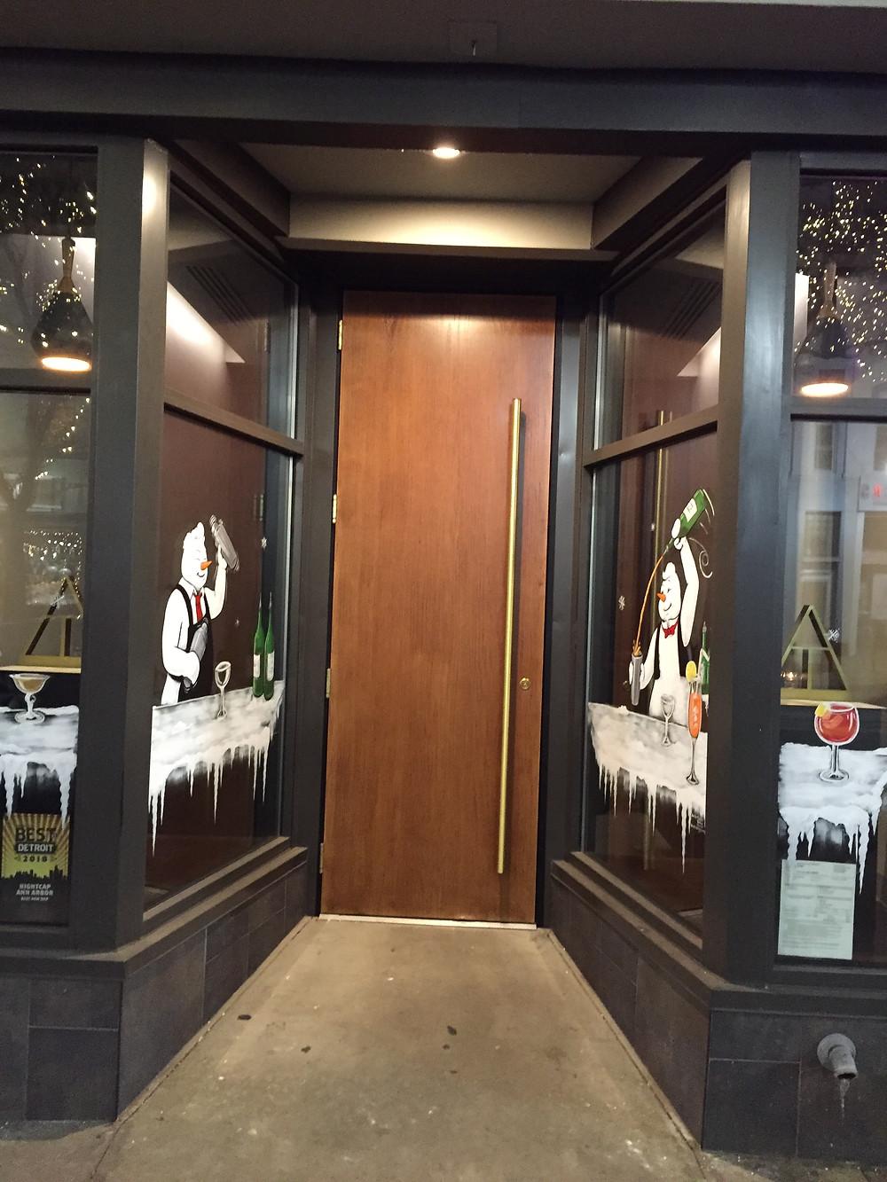 Entrance to nightcap -- speakeasy style