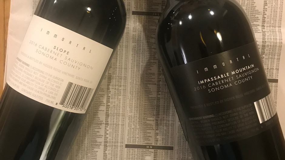 WINE REVIEWS: The Immortals
