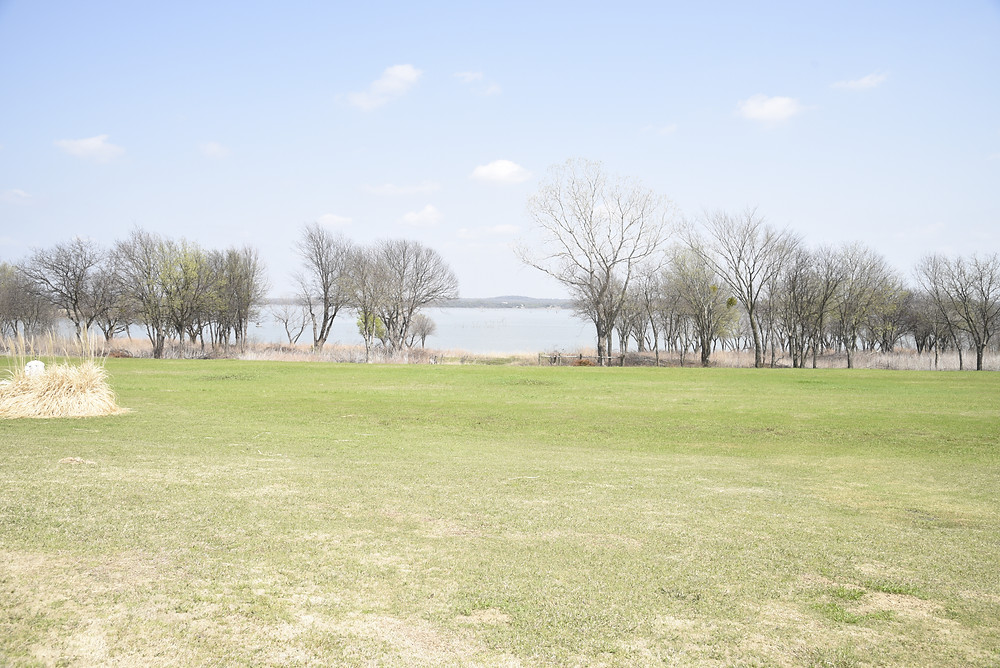 View of Lake Ray Roberts from the tasting room