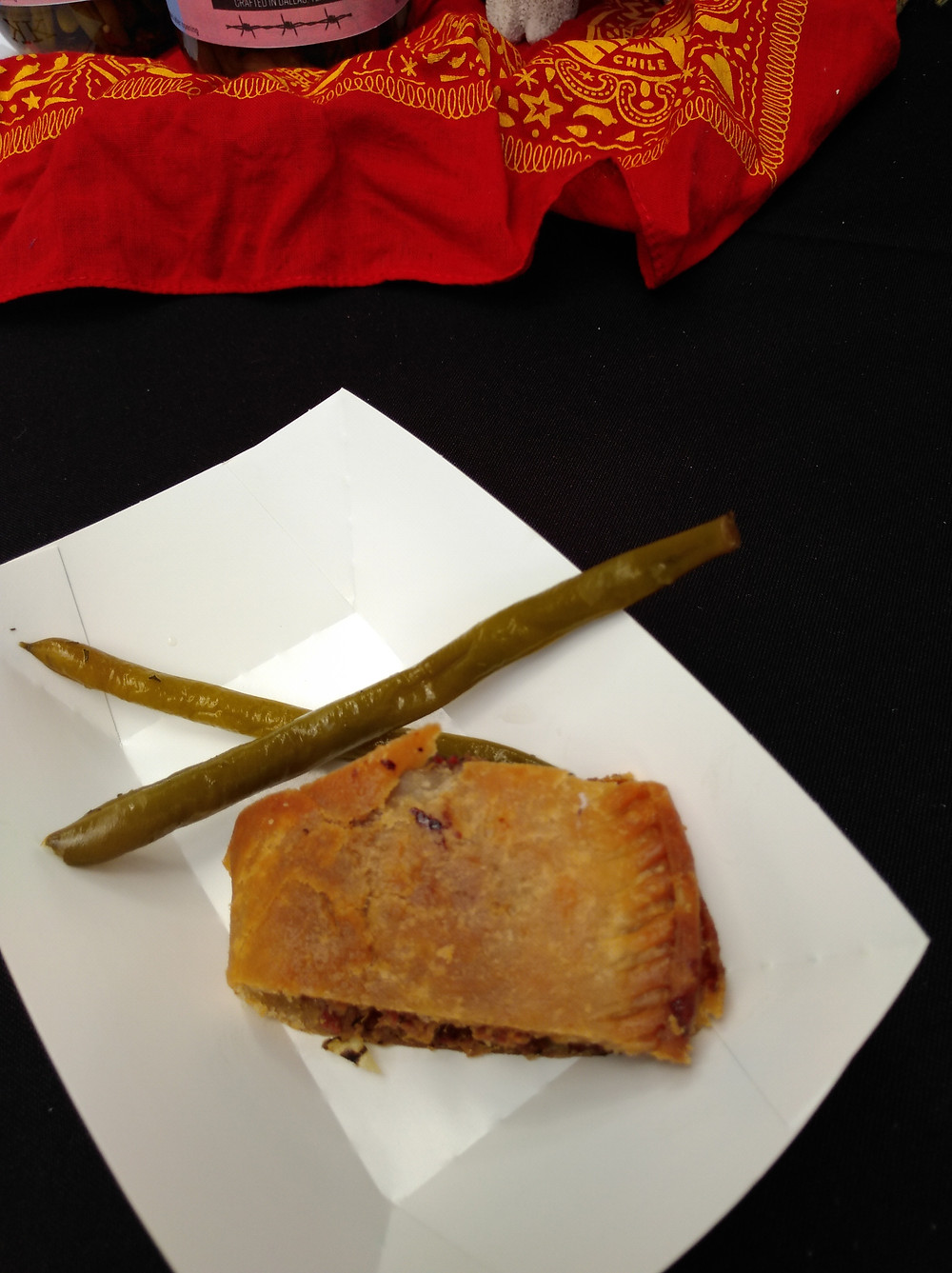 I was told that this is not an empanada, it's a meat pie.