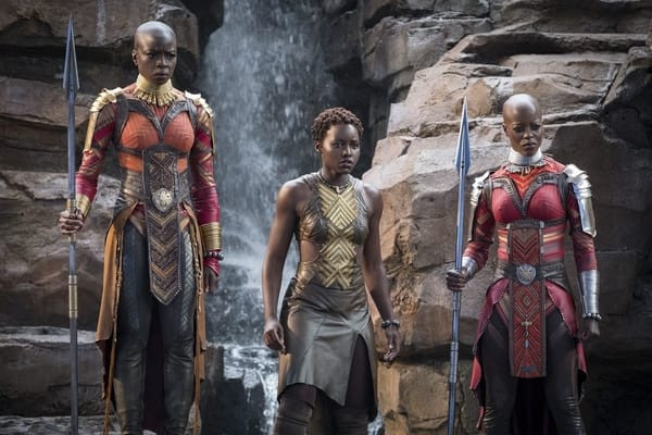 Wakanda's female soldiers look on as the Black Panther fights for his right to remain King.