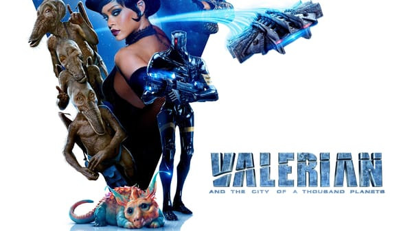 Colorful aliens and robots from the Valerian movie.