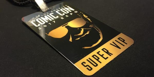 Los Angeles Comic Con 2017 Expo Super VIP Badge.