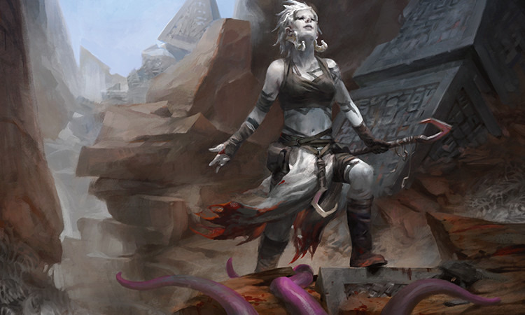 Ayli, Eternal Pilgrim card art. One of my favorite Magic the Gathering cards in recent years.