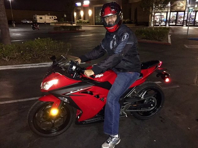 My brand new 2016 Kawasaki Ninja 300 in red!