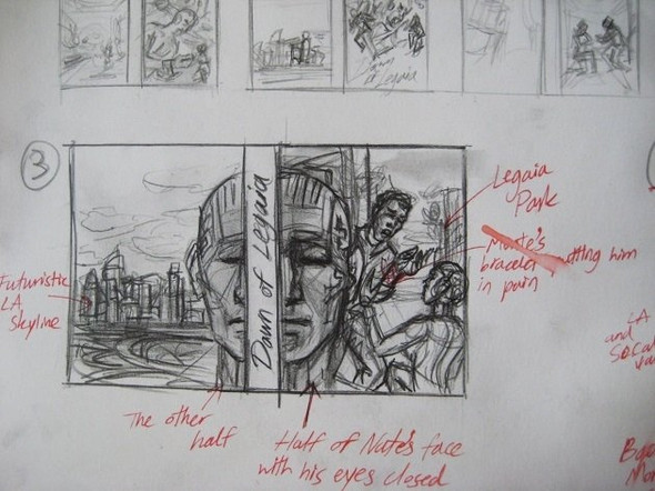 Dawn of Legaia's Initial Sketches