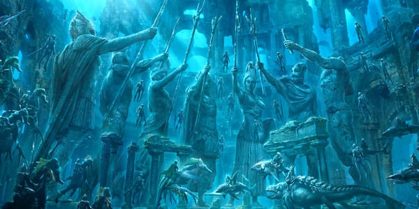 Underwater Statues Celebrating The Seven Kingdoms Of Atlantis.