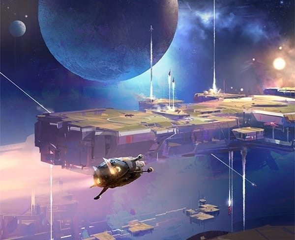 """Cover art from John Scalzi's """"The Collapsing Empire"""" novel."""